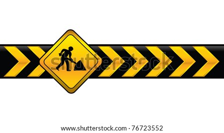digging banner - stock vector