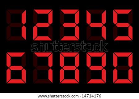 Digit numbers - stock vector