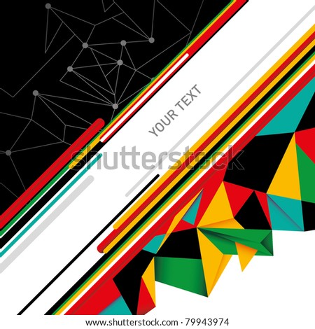 Digital abstract background in color. Vector illustration. - stock vector
