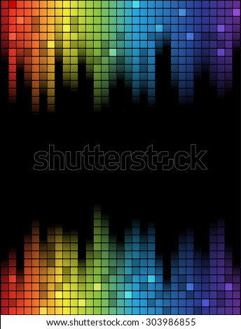 Digital abstract equalizer. Multicolored waveform background. vector Illustration - stock vector