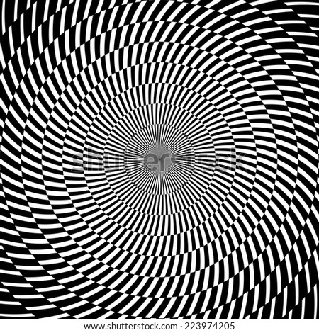 Digital abstract image with a psychedelic circular web pattern. Vector - stock vector