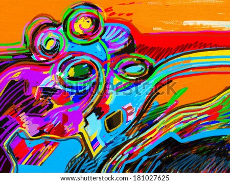 digital abstract painting composition