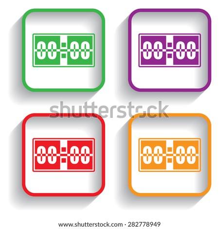 Digital alarm clock vector icon - stock vector