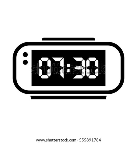 digital alarm clock vector illustration on stock photo photo rh shutterstock com