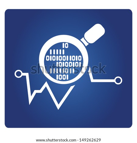 digital analysis, data analytics - stock vector
