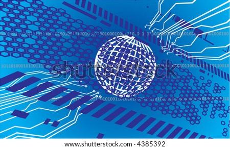 digital background - stock vector
