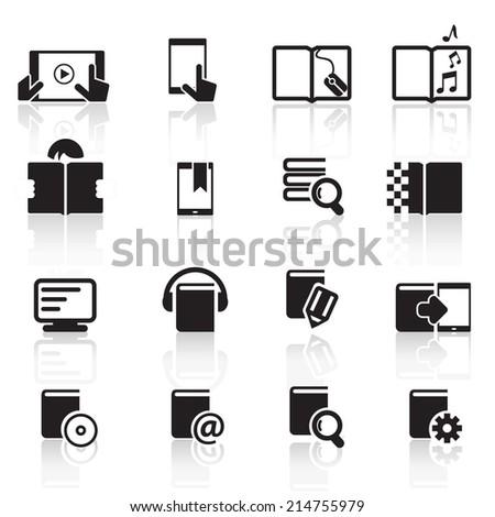 Digital book Icons Vector files. - stock vector