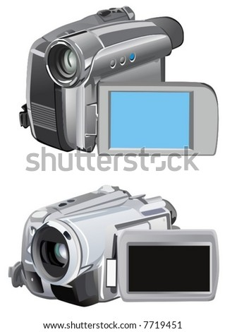 Digital camera - stock vector