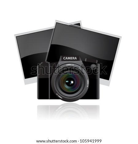 Digital camera lens - stock vector