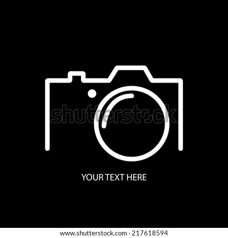 Digital camera minimal concept stock vector 217618594 for Camera minimal