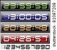 digital clock - stock vector