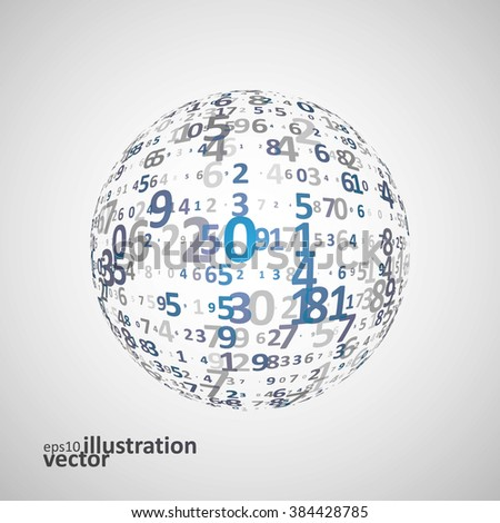Digital code background, abstract vector illustration eps10. The concept of globalization - stock vector