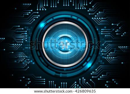 digital data background,blue abstract light hi tech pixel internet technology, Cyber security concept, Cyber digital, Cyber computer, Cyber background,cyber data, Cyber Technology,computer security - stock vector