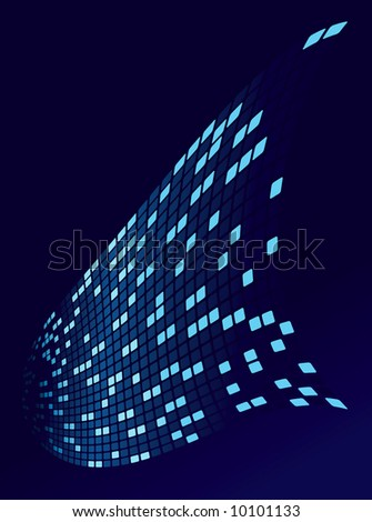 digital data stream - stock vector