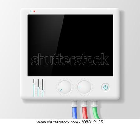 digital device - stock vector