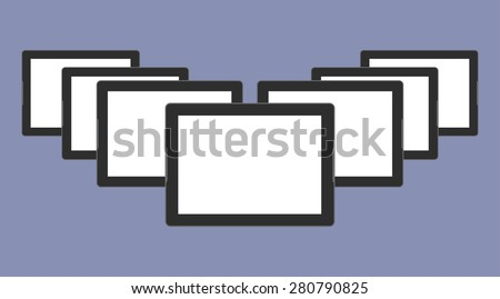 Digital devices generation trend respectively, design for web presentation in vector icon set