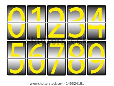digital effect numbers 0 to 9 - EPS10 - stock vector