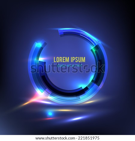 Digital Equalizer. Vector illustration. Circle technology. Vector illustration. Business Abstract Circle icon. Corporate, Media, Technology styles vector logo design template. - stock vector