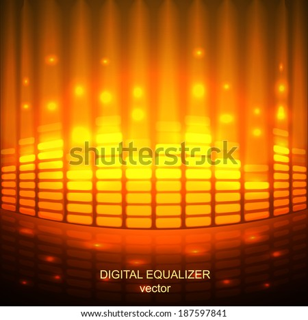 Digital Equalizer. Vector illustration. eps 10 abstract - stock vector
