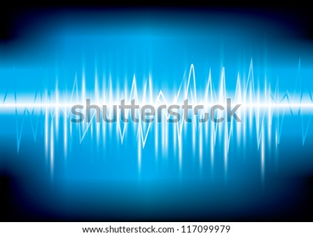 digital equalizer Vector illustration eps 10 (Wave sound media) - stock vector
