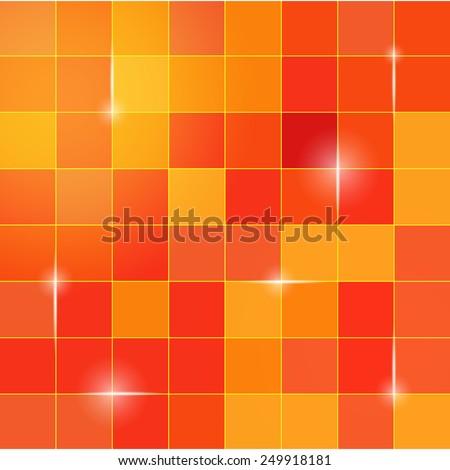 digital graphic pixel cube background - stock vector