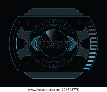 digital interface - stock vector