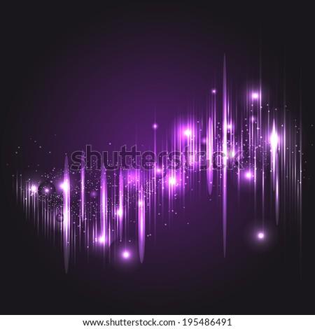 Digital light Equalizer. Vector illustration, template for your design - stock vector