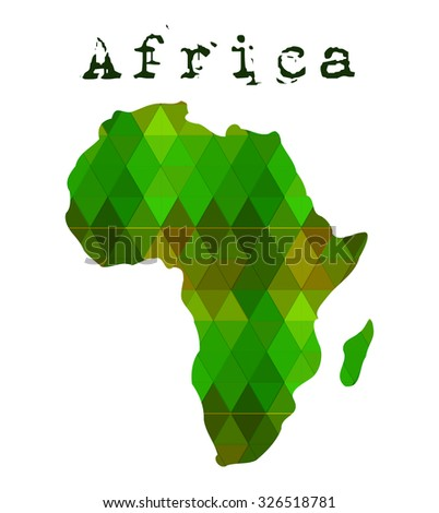 Digital map of Africa - stock vector