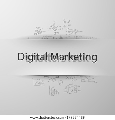 Digital marketing - stock vector