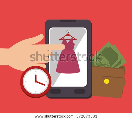 Digital marketing and ecommerce - stock vector