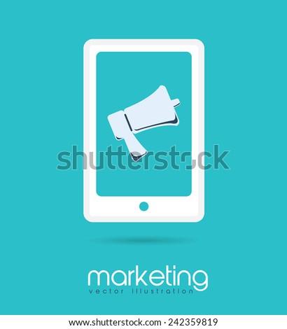 digital marketing design, vector illustration eps10 graphic  - stock vector