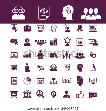 digital marketing, online advertising, video, business strategy icons, signs vector concept set for infographics, mobile, website, application  - stock vector