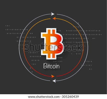 Digital Money Bitcoin Concept. Vector infograph illustration. - stock vector