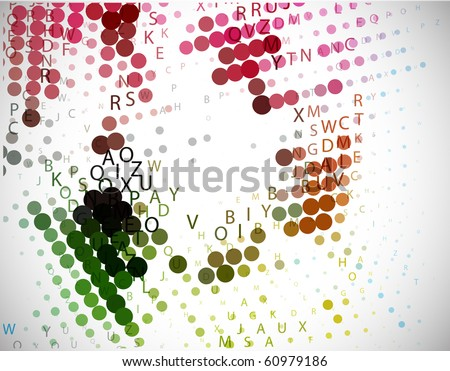 Digital program code for halftone background, vector illustration. - stock vector