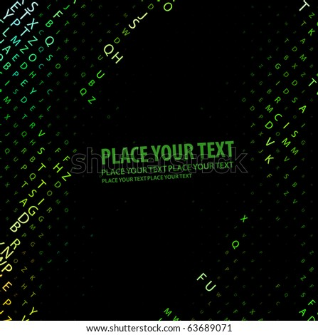 Digital program code, vector illustration. - stock vector
