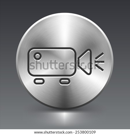 Digital Projector on Silver Round Buttons