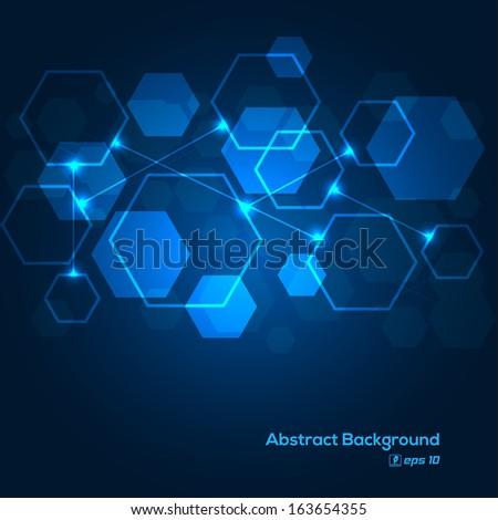 Digital scheme abstract background - stock vector