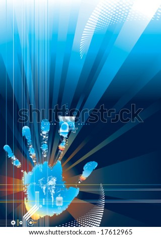 Digital security concept, vector illustration with Layers file. - stock vector