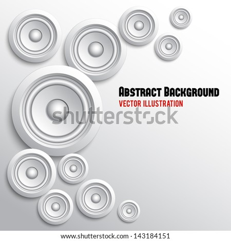 Digital speaker abstract background. Vector illustration. Can be used for your business presentations - stock vector