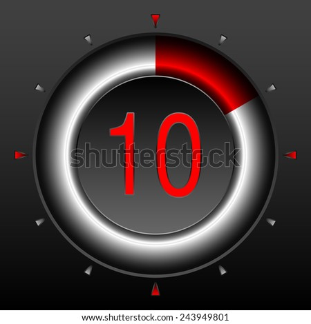Digital StopWatch. Set of Timers with Various Indications the Time. Timer. Clock. - stock vector