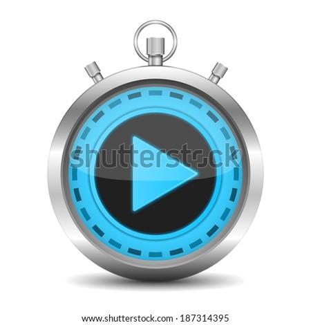 Digital stopwatch, vector eps10 illustration - stock vector