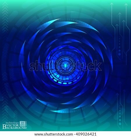 Digital technology and engineering, digital telecoms technology concept, Abstract futuristic- technology on blue color background. Vector - stock vector