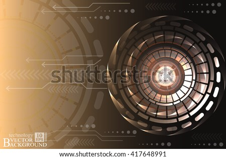 Digital technology and engineering, digital telecoms technology concept, Abstract futuristic- technology background. Vector illustration.