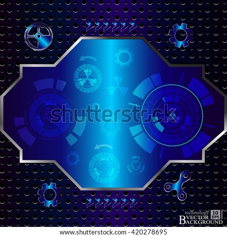 Digital technology and engineering, digital telecoms technology concept, Abstract futuristic- technology on blue color background. Vector Illustration - stock vector