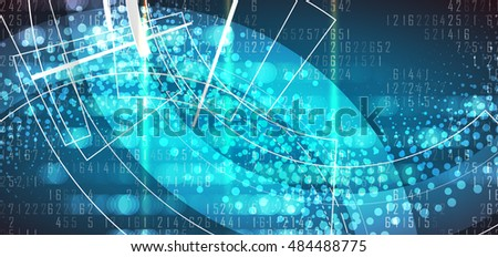 Digital technology world. Business virtual concept