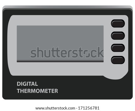 Digital Thermometer for temperature control in the refrigerator. Vector illustration. - stock vector