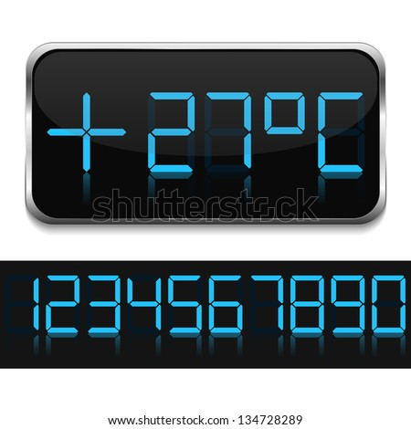 Digital thermometer, vector eps10 illustration - stock vector
