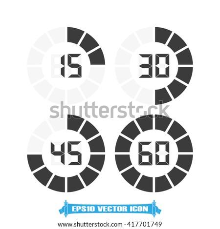 Digital timer icon vector - stock vector