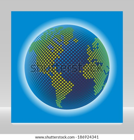 Digital world vector.  - stock vector