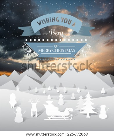 Digitally generated Merry christmas and happy new year vector - stock vector